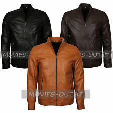 Mens New Casual Biker Wear Riders Fashion Designer Leather Jacket In Three Color