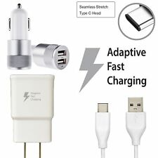 Adaptive Fast Rapid Wall Charger + USB Type-C Cable Car Charger For LG V20 G5 G6