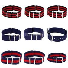 Unisex Military Style Nylon Wrist Watch Band Strap Fits All Watches 18/20/22mm