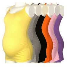 Women Strappy Vest Summer Tank Tops Maternity Pregnant Lady Camisole T-shirt