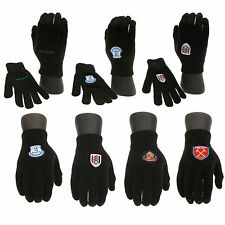 Embroidered Crest Football Team warm Kids Size Knitted Gloves For Junior Gift