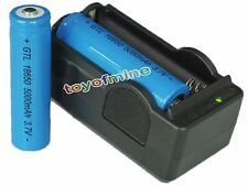 2x 18650 3.7V 5000mAh GTL Li-ion Rechargeable Battery for Torch + 18650 Charger