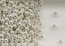 """925 Sterling Silver 4mm Seamless Round Spacer Beads, .067"""" Hole, Choice Quantity"""
