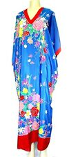 OSCAR DE LA RENTA For SWIRL FLORAL VINTAGE TUNIC MUMU BLUE  MULTI COLOR DRESS
