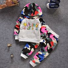 New Baby Girls Boys Camouflage Clothing Set Hoodie + Pants 2 Pcs/Set Outfit