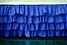 1 Qty Multi Ruffle Bed Skirt Egyptian Cotton Egyp Blue Solid 1000 TC Drop 8-30''