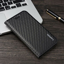 Luxury Magnetic Carbon PU Leather Flip Wallet Case Cover for Apple iPhone 6s 7 5