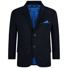 Hugo Boss Boys Navy Blazer with Blue Lining and Pocket Square