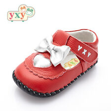 "YXY ""Liza"" Red Leather Soft Sole Baby Toddler Girls Shoes"