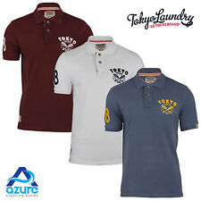 Mens Polo Shirt by Designer Tokyo Laundry Collared Cotton Short Sleeve Top S-XL