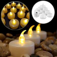 12 24 Battery Tea Candle Flickering Lights Party Wedding LED Electric Tealights