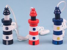 Seaside / Nautical Theme Wooden Lighthouse Cord Pull / Light Pull  (15278)