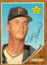 Tom Parsons autographed Baseball Card (Pittsburgh Pirates) 1962 Topps #326