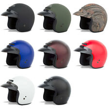 Gmax Adult GM2 Solid Open Face 3/4 Motorcycle Street Helmet - Pick Size & Color