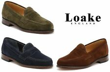 Loake Mens Loafers, Eton, Suede, Slip On, Smart Casual Shoes - Various Colours