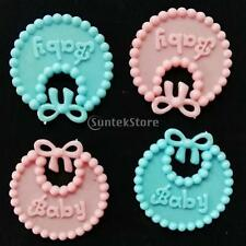 MagiDeal 12 Pieces Plastic Baby Bibs for Baby Shower ,Cupcake Toppers Decoration