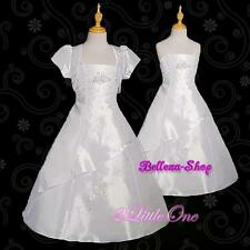 50% OFF Rhinestones Taffeta Flower Girl Wedding Pageant Dress + Jacket 3T-13 058