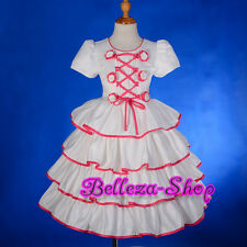 50% OFF Cream Satin Tiered Flower Girl Dress Wedding Pageant Party Size 2T-7 207
