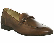 Mens Hudson London Renzo Loafers TAN LEATHER Formal Shoes