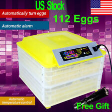 48/56/96/112 Digital Eggs Incubator Hatcher Auto Turning Temperature Poultry Egg
