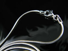 """.925 Sterling Silver 18"""" 1.25mm Snake Chain Necklace !!"""