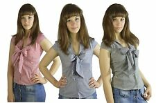 146 SeXy Ladies Shirt Blouse Business Pinstripe Elegant Casual Fitted