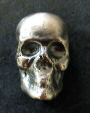 1 OZ HAND POURED SILVER SKULL YPS YEAGER POURED SILVER .999
