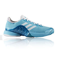 Adidas Barricade 2017 Mens Blue Tennis Court Sports Shoes Trainers Pumps