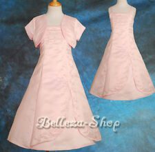 Rich Beads Embroidery Dress Wedding Flower Girl Pageant Communion Sz 2T-13 FG063