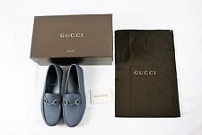 BRAND NEW W BOX Gucci Gray Rubber Horsebit Loafer Driving Driver Shoes 8 9 10 11