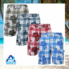 Mens Swimming Shorts Pride & Soul Floral Print Mesh Lined Combat Cargo Trunks