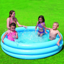 "Intex 66"" Crystal Ring Above Ground Inflatable Kiddie Swimming Pool"