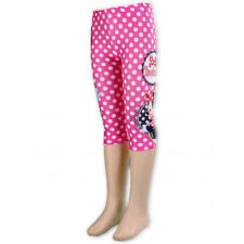 Girls Disney Minnie Mouse Summer 3/4 Leggings Short 2 3 4 5 6 7 8 Years
