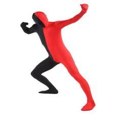 Red Black Spandex Full Body Bodysuit Zentai Suit Costume Party for Adult