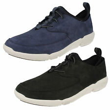 MENS CLARKS NUBUCK LEATHER LACES SPORTS TRAINERS CASUAL SHOES TRIFLOW FORM