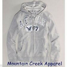 New AMERICAN EAGLE Outfitters Hoodie Size XS Graphic Jacket Sweatshirt Gray