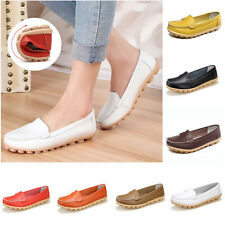 Womens Lady Oxfords Shoes Leather Ballet Loafers Boat Shoes Casual Comfort Flats