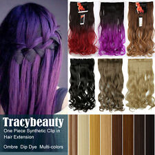 Hot Women Long Thick Clip in Hair Extensions One Piece Layered as Human Hair T22