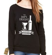 The Imp's Delight Winery GoT Slouchy Off Shoulder Oversized Sweatshirt