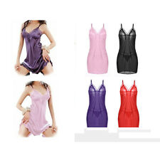 Women's Lingerie Polyester Dress Underwear Babydoll Sleepwear G-string Nightwear