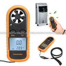 Mini Digital LCD Anemometer Wind Speed Gauge Tester NTC Temperature  Thermometer