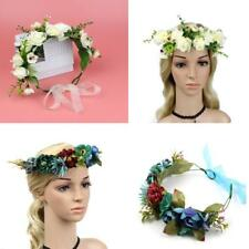 Bridal Wedding Flower Cluster Hair Band Floral Garland Summer Party Costume