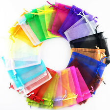 25/50/100pcs Organza Wedding Xmas Party Favor Gift Candy Bags Jewellery pouches