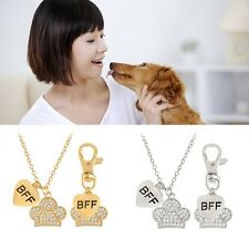 Dog Tag Necklace Set Matching Dog Pet Owner Crystal Claws Best Friend Jewelry