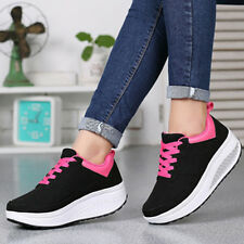 Casual Women's Lace Up Trainer Sports Running Platform Sneakers Creepers Shoes