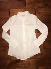 NWT Gap Maternity White Tailored Professional Shirt Blouse Sz XS, M Button Down