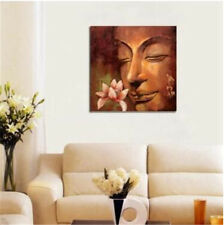 Handcraft famous religion oil painting on canvas modern abstract buddha flowers