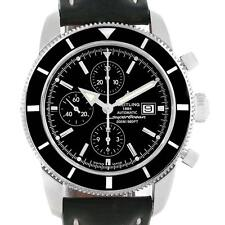 Breitling SuperOcean Heritage Chrono 46 Black Leather Strap Watch A13320