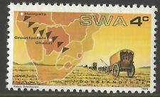 South West Africa Stamp 1974 4c The 100th Anniversary of Thirstland Trek MNH