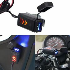 LED 5V 2.1A Motorcycle USB Charger Power Outlet Socket Adapter for Phone GPS